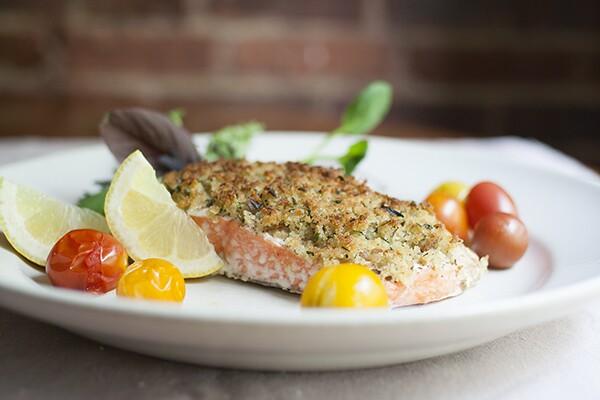Herb-Crusted Salmon | Photo by Maria Zizka