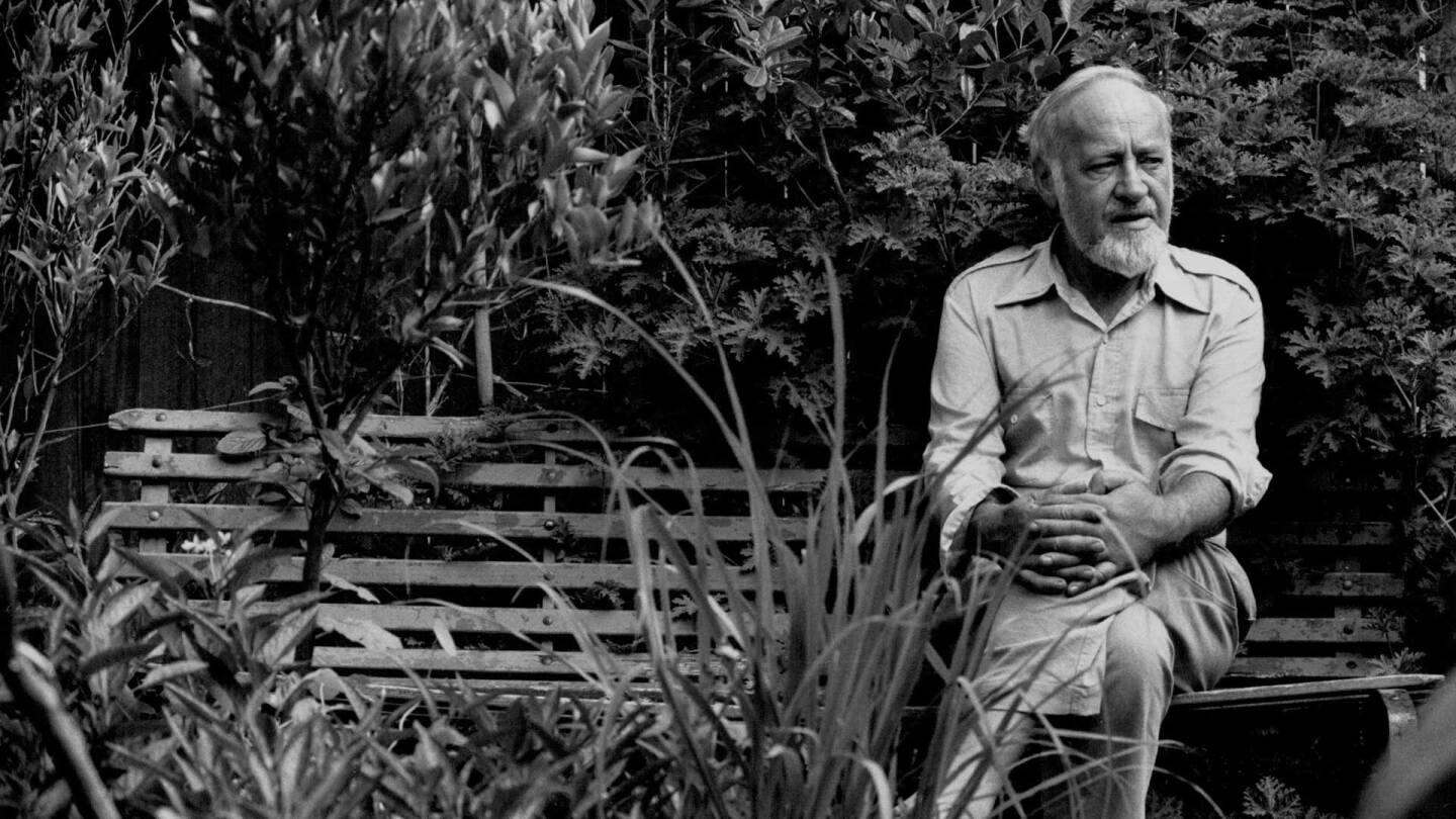 Bill Mollison in the garden of his Enmore, Australia home on January 16, 1989. | Greg White / Fairfax Media via Getty Images