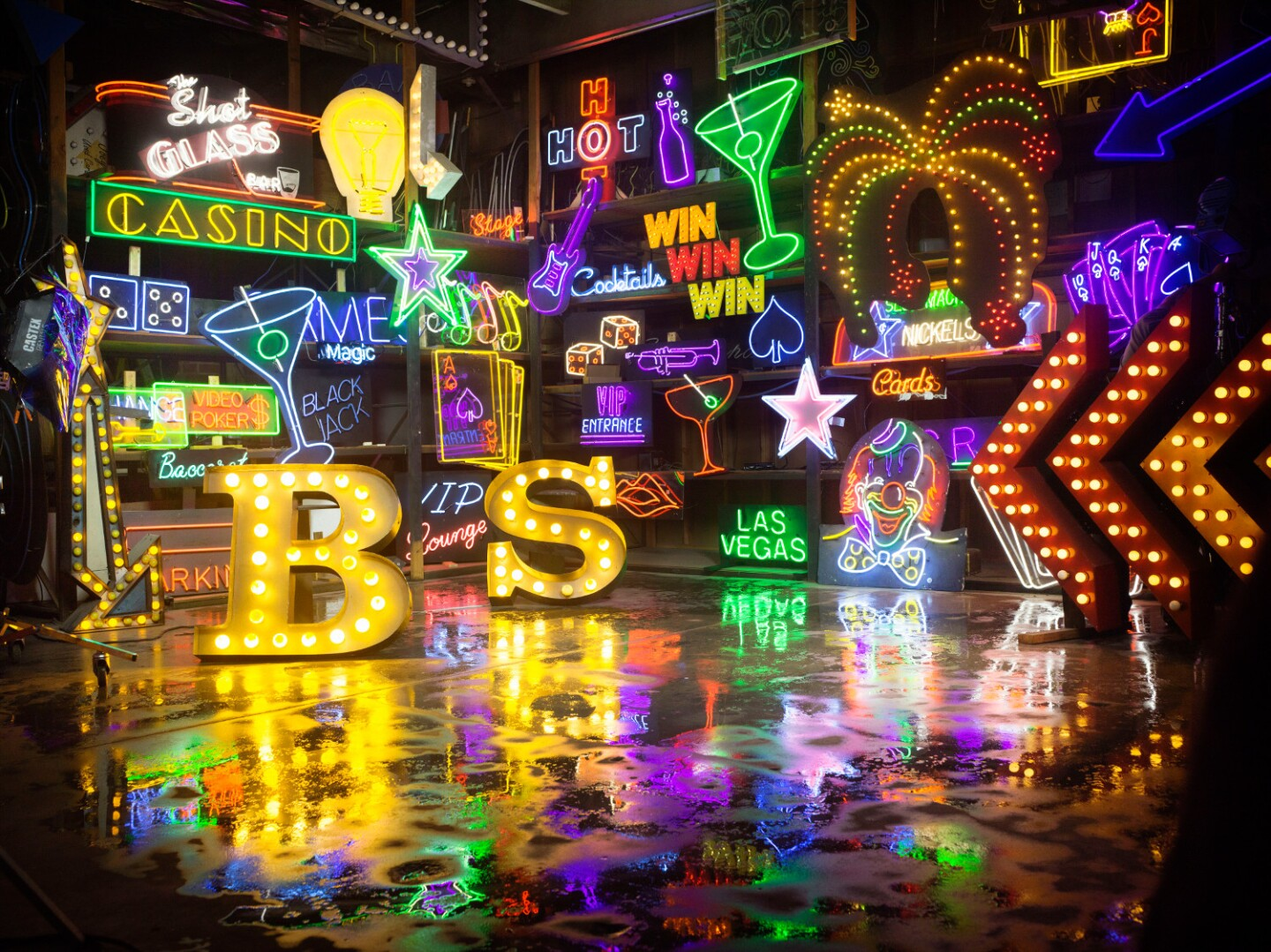 Lisa Schulte's work was used as the backdrop for several Backstreet Boys imageswhich promote their 2017 Las Vegas residency.   Photo: Courtesy of the artist