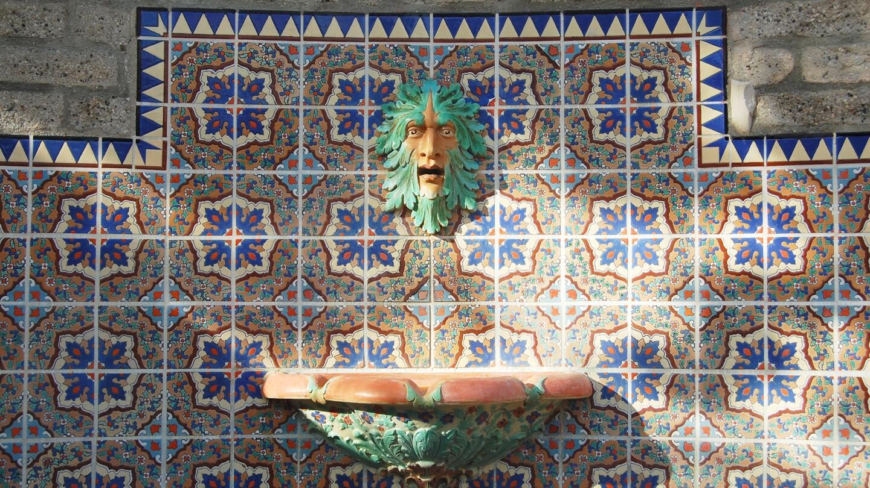 Green man fountain