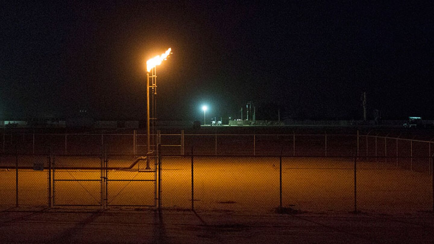 Smaller version of methane flaring in Kern County pic