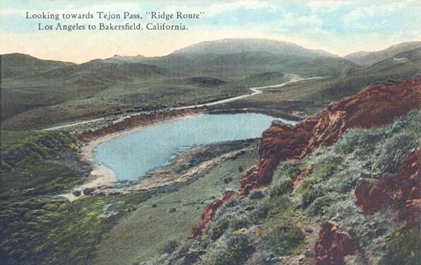 Tejon Pass. Courtesy Kern County Public Library, San Joaquin Valley & Sierra Foothills Photo Heritage.