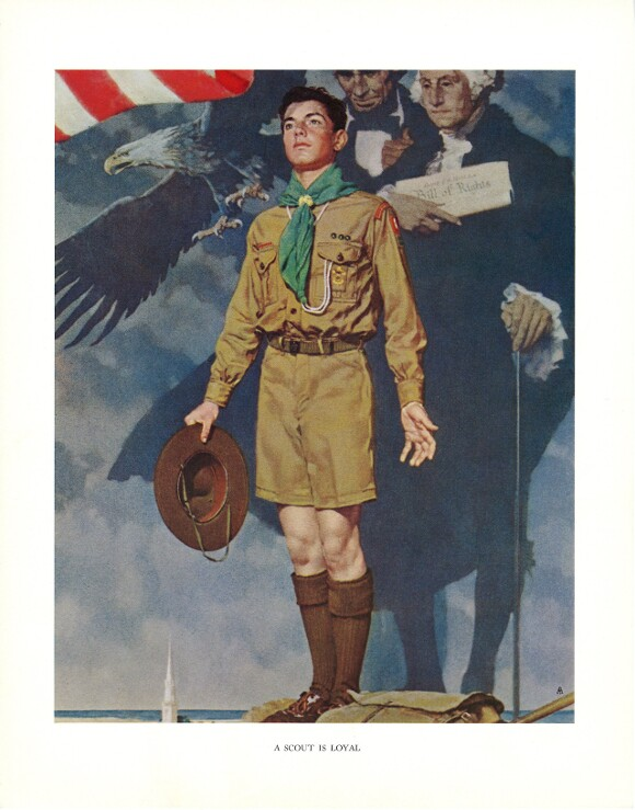 """""""A Scout is Loyal,"""" Norman Rockwell. 