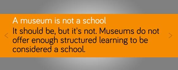 A response to &quot;Is a museum a school?&quot; <em>What #isamuseum?</em> project, Sam Durant.