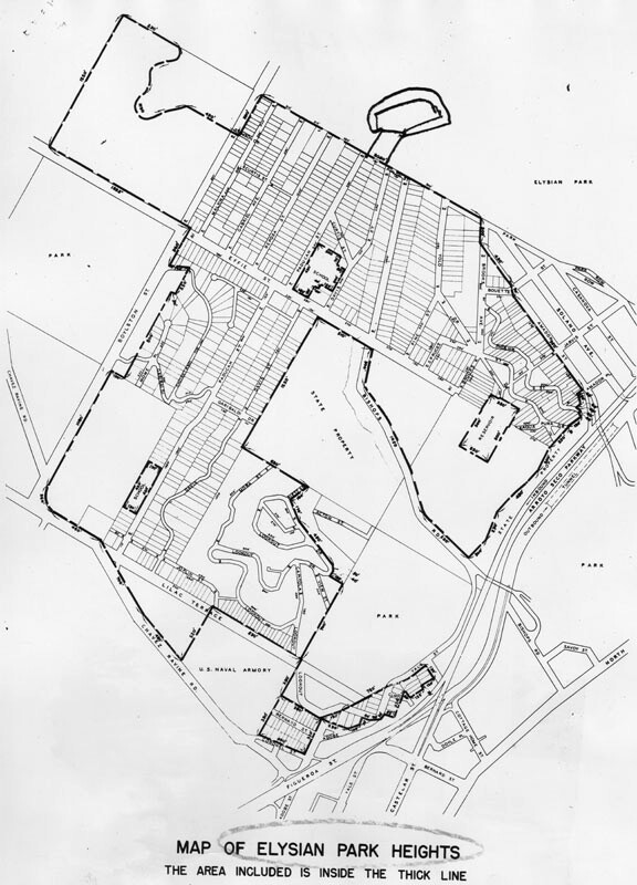 Map of Elysian Park Heights. Courtesy of the Herald-Examiner Collection, Los Angeles Public Library.