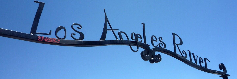 L.A. River gate at Maywood Riverfront Park, designed by Brett Goldstone.   Sandi Hemmerlein