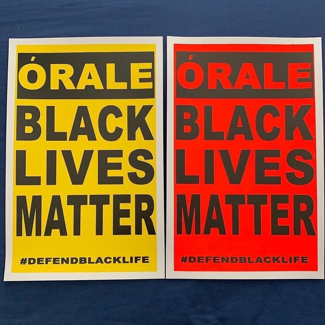 Black Lives Matter poster | Dewey Tafoya for Self Help Graphics