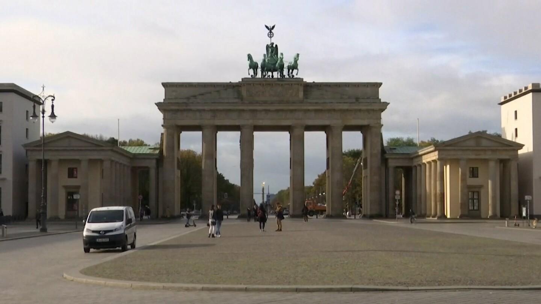An empty landmark in Europe.