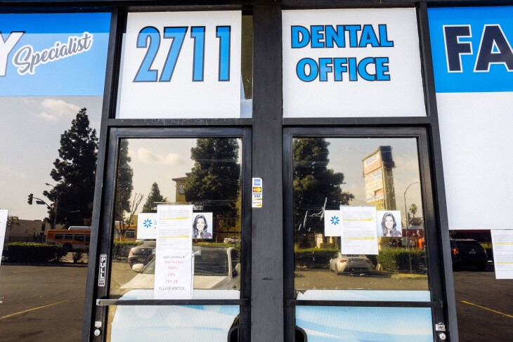 Many Dentists in California have suspended non essential or non urgent treatments to help slow the spread of COVID-19. | Chava Sanchez/LAist