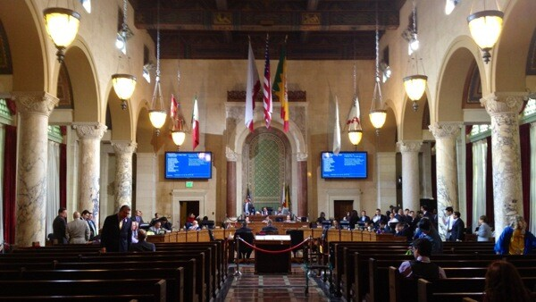 Inside L.A. City Council Chambers | Photo: Zach Behrens/KCET