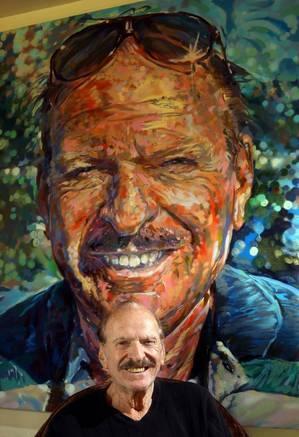 Spraycan portrait of James Prigoff by Dizney, aka Brett Cook