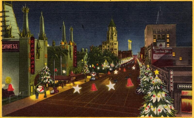 1957 postcard of Santa Claus Lane