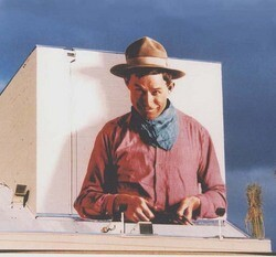 Will Rogers as stage cowboy at California Theatre in San Bernardino
