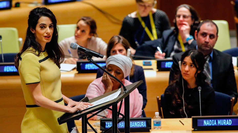 Amal Clooney & Nadia Murad addressing the UN