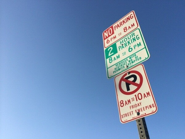 Preferential parking districts can be spotted throughout L.A., much to the chagrin of many drivers. | Photo: Zach Behrens/KCET