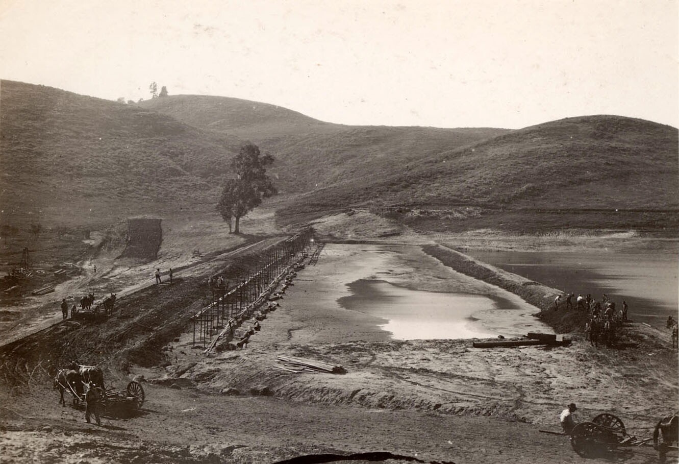 Silver Lake Dam, looking north.