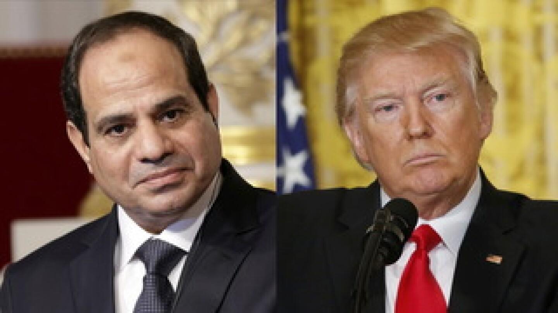 Donald Trump and Abdel Fattah el-Sisi