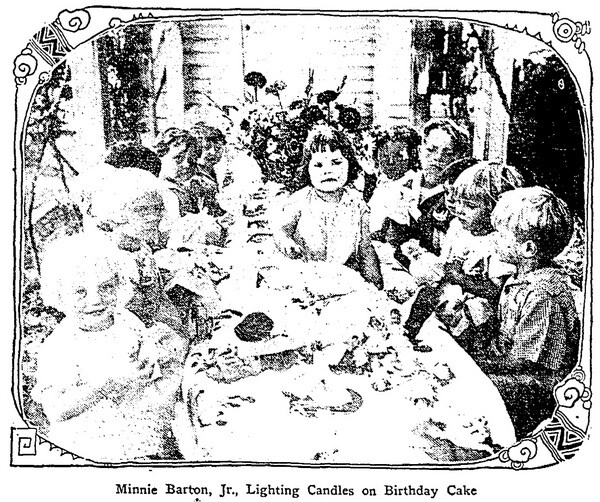 Always fundraising: 'Just look at little Minnie.' Mrs Barton asked a reporter. 'Don't you think she was a splendid investment? | L.A. Times, July 16, 1927'