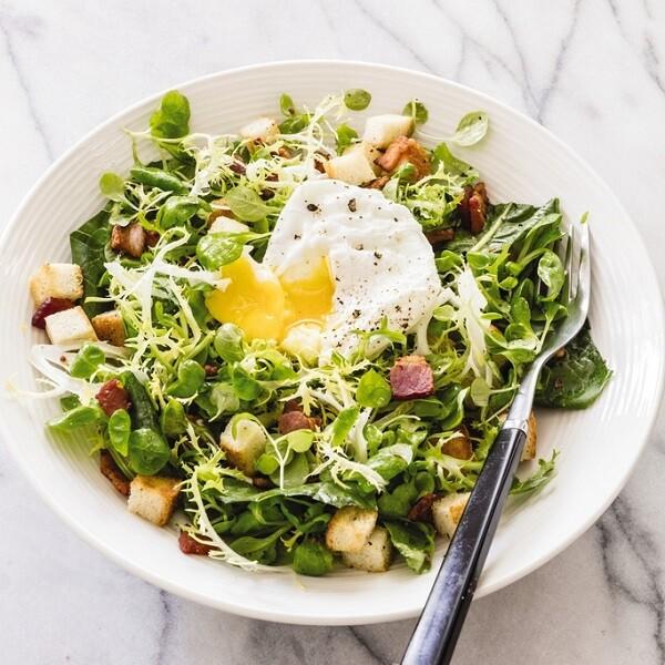 Salade Lyonnaise with Poached Eggs