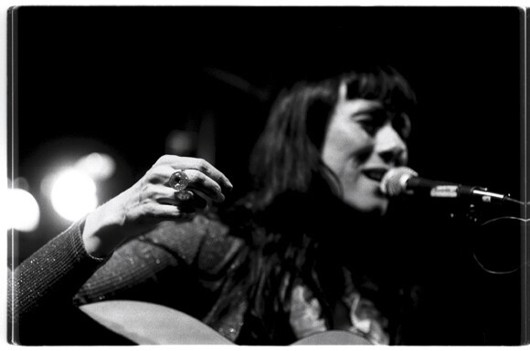 Maria Gabriela Epumer performs during the Latin Alternative Music Conference as one of its shows in a acoustic show in a bar in New York 2000. | Photo: Thomas Cordova.