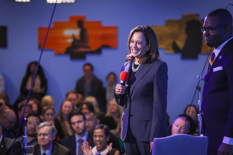 US Senator Kamala Harris at an April 2018 event