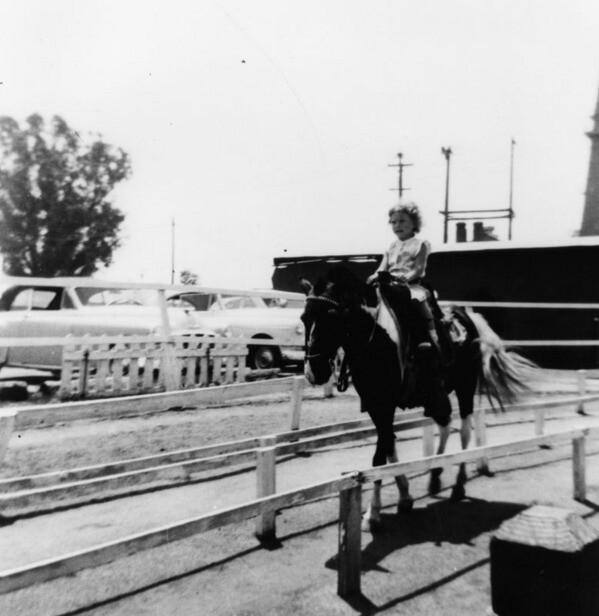 Girl takes a ride at Ponlyland ca. 1958 | Photo: Courtesy of Los Angeles Public Library