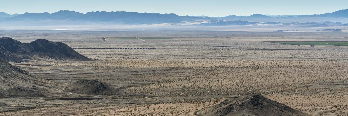 A view of the Cadiz and Fenner Valleys photographed by Kim Stringfellow from the Cadiz Summit off historic Route 66 in the Mojave Trails National Monument.  | Kim Stringfellow