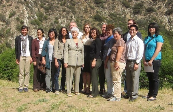 Congresswoman Grace Napolitano with members of San Gabriel Mountains Forever campaign at the San Gabriel River's East Fork   Photo by The City Project