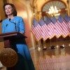 U.S. Speaker of the House Rep. Nancy Pelosi makes a statement late Friday about the Families First Coronavirus Response Act | Alex Wong/Getty Images