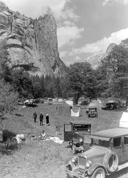 Car Camping in Yosemite, 1927