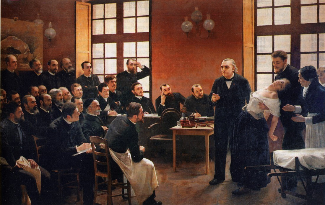 A clinical lesson about hysteria held at hospital of la Salpêtrière in Paris by French neurologist Jean-Martin Charcot | Wikimedia