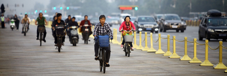 Bicyclists in Beijing