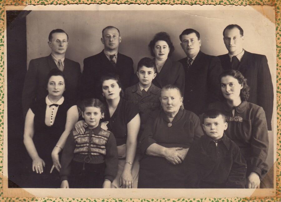 Artist Jenny Yurshansky's extended family