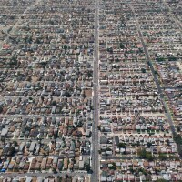 South Los Angeles Normandie Avenue Aerial