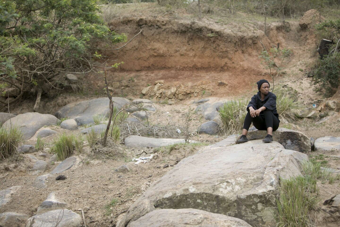 Climate activist Ayakha Melithafa in South Africa. | Courtesy of Thomson Reuters Foundation