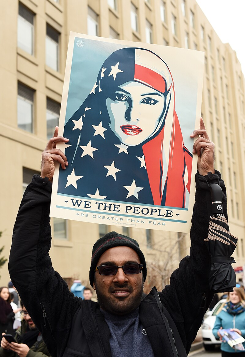 Supporters And Protesters Turn Out For The Inauguration Of President-Elect Donald Trump.   Photo: Amanda Edwards/Getty Images