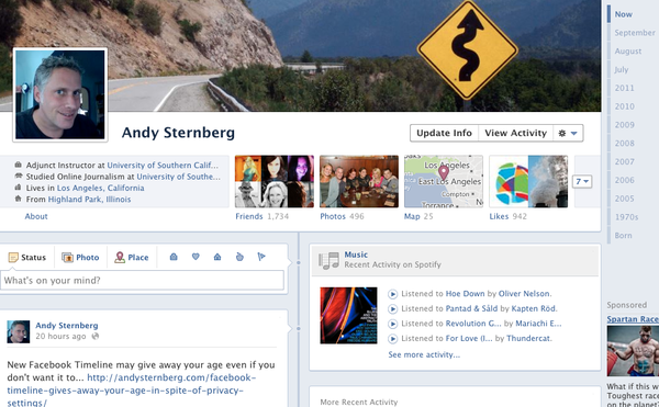 Facebook profiles will become personal timelines this week.