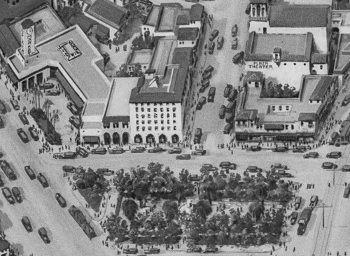 Detail of ''Relief map of park at Leimert office'' 1928 | Dick Whittington Studio, Courtesy of the USC Digital Library