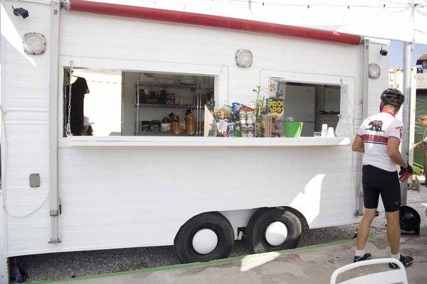 The vintage trailer