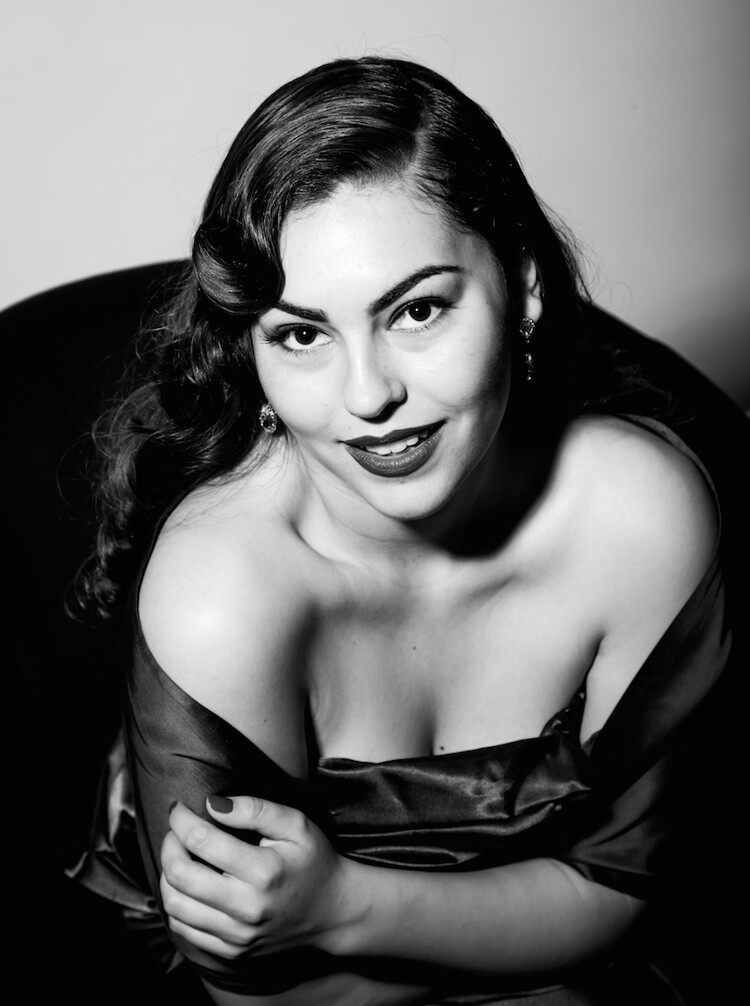 "Deja Jones (Eastern Shoshone) as Ava Gardner. Photo: Pamela J. Peters for the ""Real NDNZ Re-take Hollywood"" project"