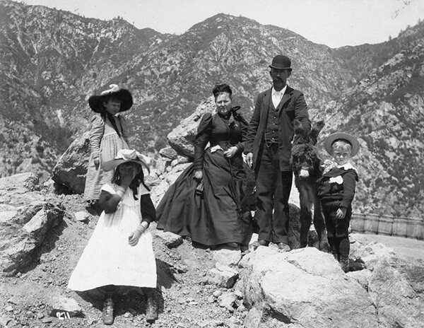 Family photo taken on Mount Lowe. | Courtesy of the Los Angeles Public Library