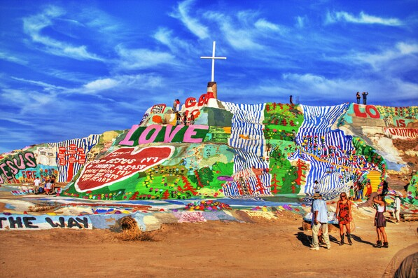Salvation Mountain in HDR, though it hardly needs it | Creative Commons image by Jesse