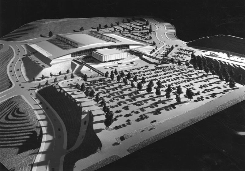 A model of the proposed Elysian Park Convention Center