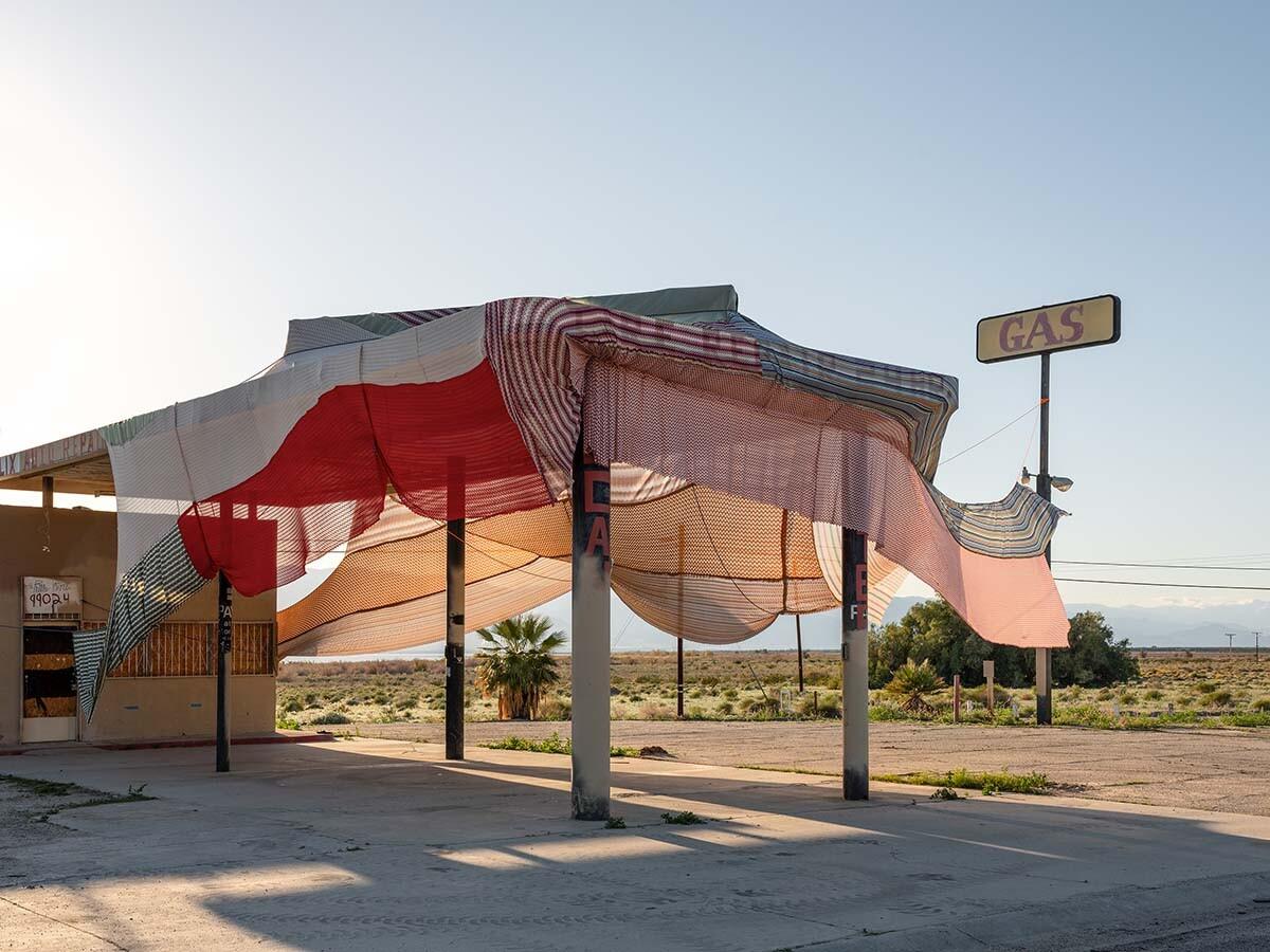 Desert X installation view, Eric N. Mack, Halter, 2019 | Lance Gerber, courtesy of Desert X