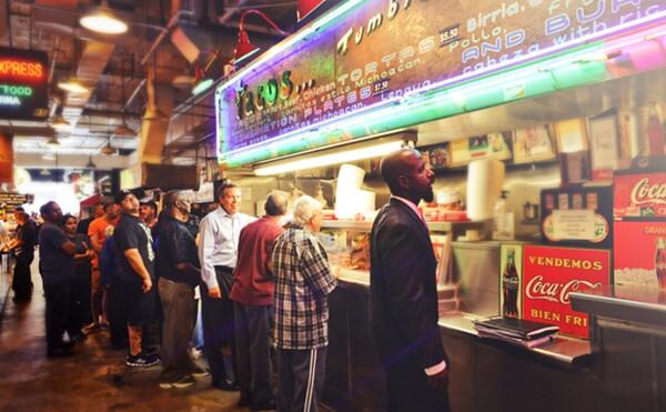 Tacos Tumbras a Tomas. Photo: Grand Central Market