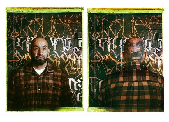 Big Sleeps at the Container Yard, Los Angeles, 2014. Diptych. | Photo: Jim McHugh.