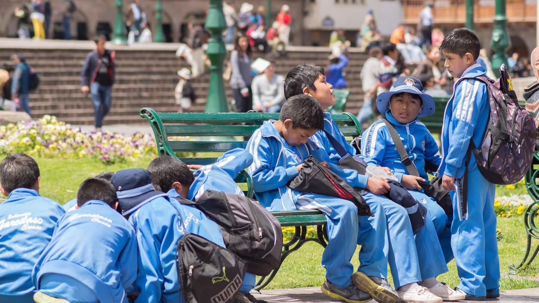 School Children in Peru