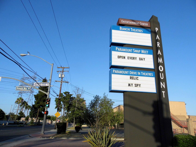 Paramount Drive-In Theatres sign. | Sandi Hemmerlein