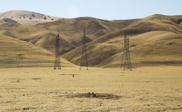 A dry California landscape.