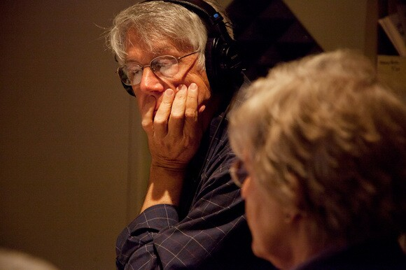 "Mark Abel during a ""Terrain of the Heart"" recording session. 